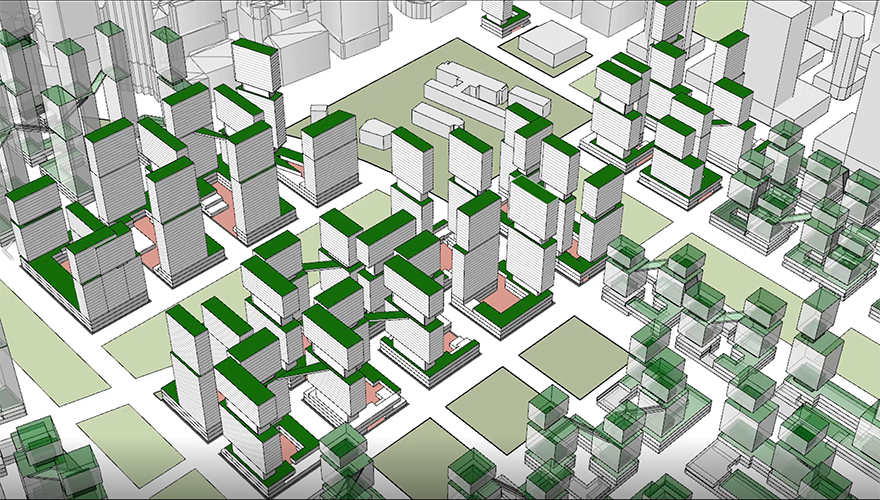 Pol Foreman // Parametric Generation and Optimization of High-Density Mixed-Use City Block Typologies // Master Thesis 2018