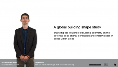 Jakob Becker // A global building shape study // Master Thesis 2020